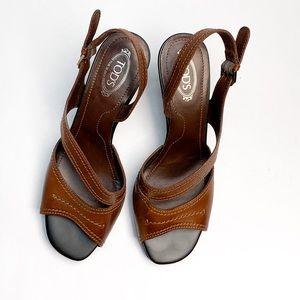 TOD'S Hillary Mod Chelsea Open Toe Sandals